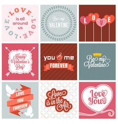 valentine day set vector image