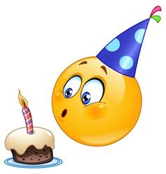 birthday emoticon vector image vector image
