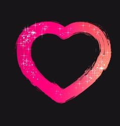 Brush Stroke Heart vector image vector image
