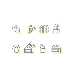 farm line icon sets vector image