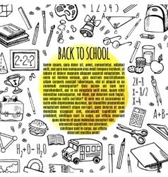 Frame sketch back to school vector image