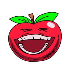 happy tomato cartoon hand drawn image vector image vector image