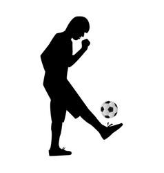 Man kicking soccer ball vector image vector image