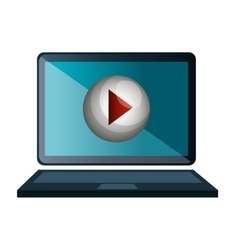screen with live streaming video icon vector image