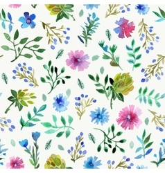 Seamless pattern with Beautiful flowers and leaves vector image