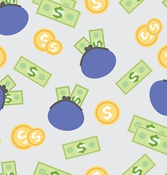 Seamless pattern with the image of wages money vector image vector image