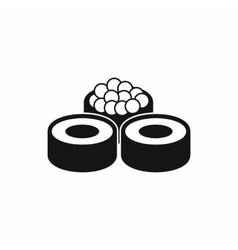 Sushi icon simple style vector image