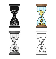 time is money icon in cartoon style isolated on vector image