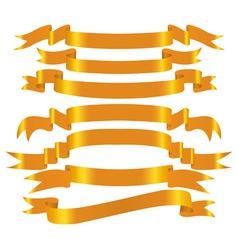 vector gold banner set vector image vector image