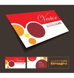 a front and back business card vector image vector image