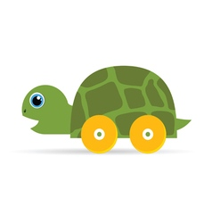 baby toys green turtle vector image