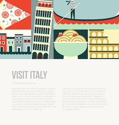 Italy Postcard vector image vector image