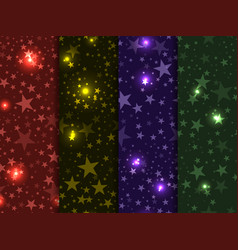 seamless pattern with stars deep space star sky vector image vector image