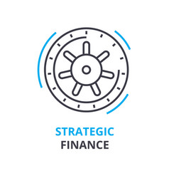 strategic finance concept outline icon linear vector image vector image