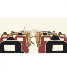 airplane interior vector image