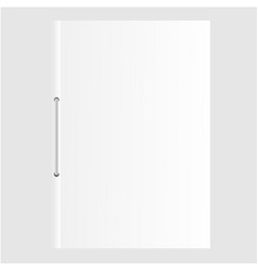 blank empty magazine or document file vector image