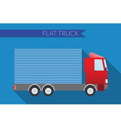 Flat design city Transportation small truck for vector image