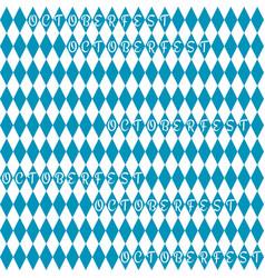 oktoberfest background pattern vector image