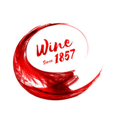 abstract red wine background vector image