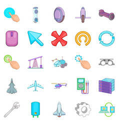 Advanced technologies icons set cartoon style vector