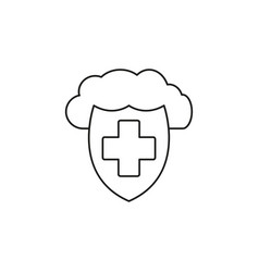 antivirus cloud protection icon vector image
