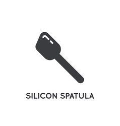 bakers spoon silicone spatula cooking glyph vector image
