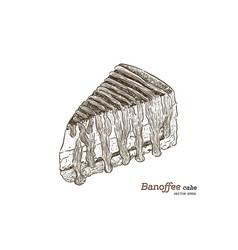 banoffee dessert hand draw sketch vector image
