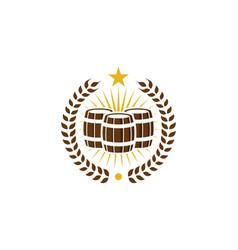 barrel beer logo icon design vector image