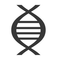 Black dna isolated icon on white vector