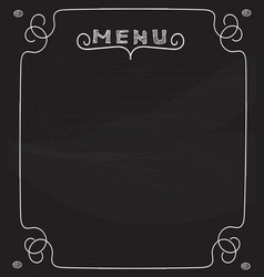 blank menu on blackboard vector image