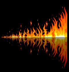 burning flames vector image