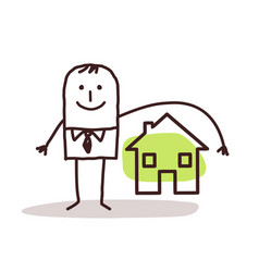 businessman and house insurance vector image