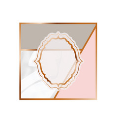 Card with marble texture icon vector