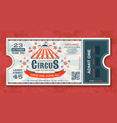 Circus tickets vintage carnival event banner vector