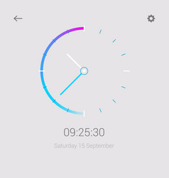 Clock mobile app concept ui design day and night vector