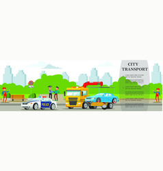 colorful road assistance service concept vector image