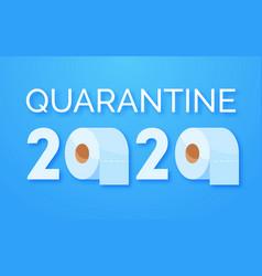 coronavirus panic 2020 concept stocking up toilet vector image