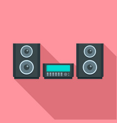 digital stereo system icon flat style vector image