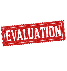 Evaluation sign or stamp vector