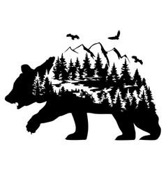 fantasy bear vector image