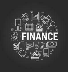 finance concept on black vector image