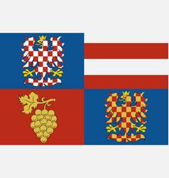 Flag south moravian region in czech republic vector
