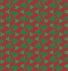 Fresh papaya leaf pattern on violet background vector image