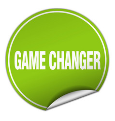 Game changer round green sticker isolated on white vector