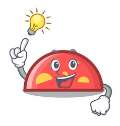 have an idea semicircle mascot cartoon style vector image