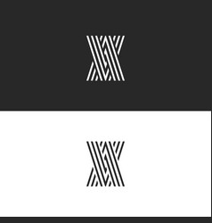 initials logo va letters monogram overlapping vector image