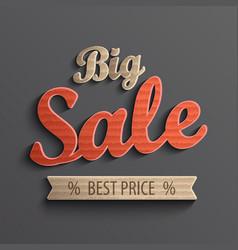 Inscription big sale for banner vector image