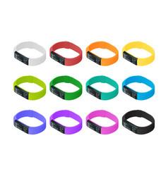 isometric fitness bracelet or tracker vector image