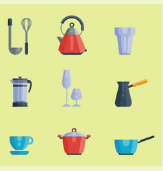 Kitchen utensils icons vector