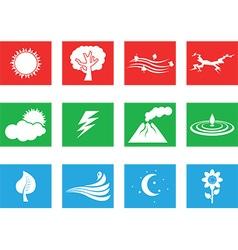 Landscape icon set vector